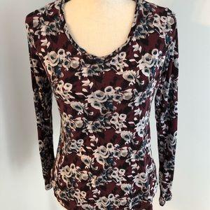 Simply Vera   Vera Wang   floral blouse Size S